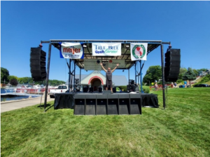 National Blueberry Festival Setup